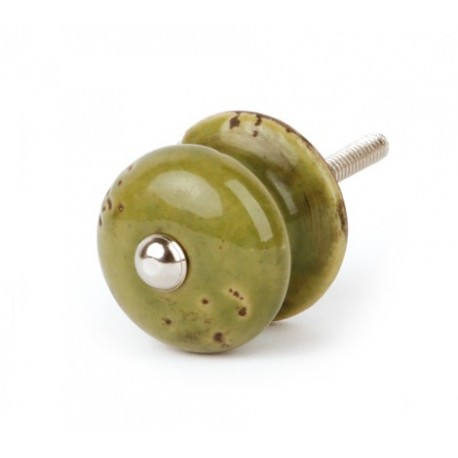 Shabby chic Möbelknauf grün