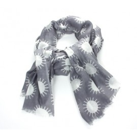 Schal Sonne Grau
