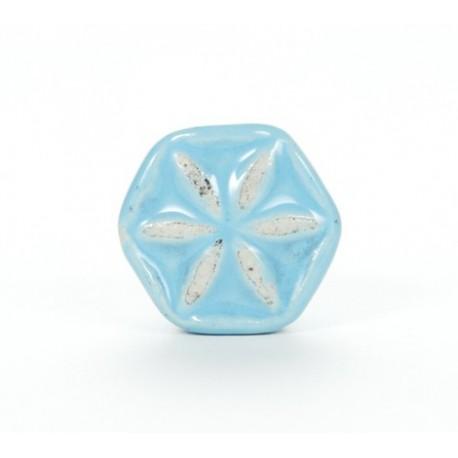 Knauf Blüte hellblau