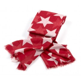 Halstuch in rot mit weißen Sternen