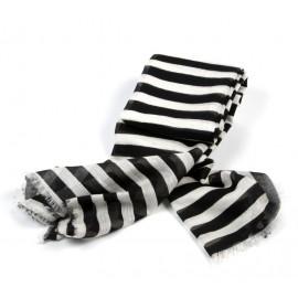Schal Streifen Schwarz Weiß