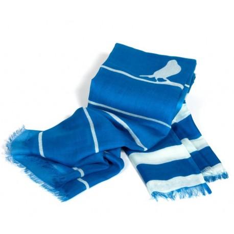 Tuch blau Streifen weiß