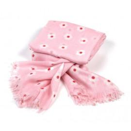 Helles rosa Sommertuch mit kleinen Blümchen