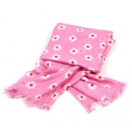 Sommertuch in pink mit kleinem Blütenmuster