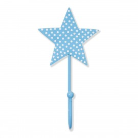Kinderhaken Stern Punkte hellblau