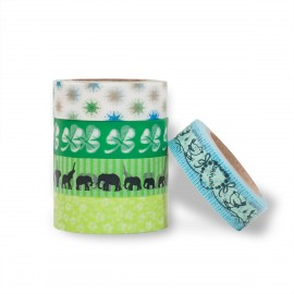masking tape scrapbooking Reispapier Elefant
