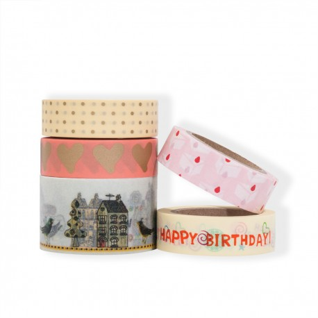 masking tape set scrapbooking Reispapier Happy Birthday