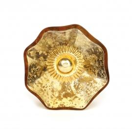 Möbelknauf aus Glas im Shabby Chic look in gold