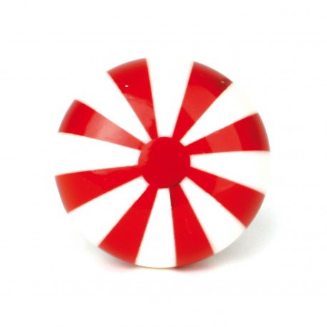 Knauf Bonbon rot/weiß