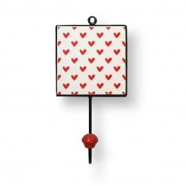 Fliesenhaken   Romantik   Herz   rot