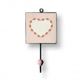 Fliesenhaken   mit Titelblock   Herz   rosa