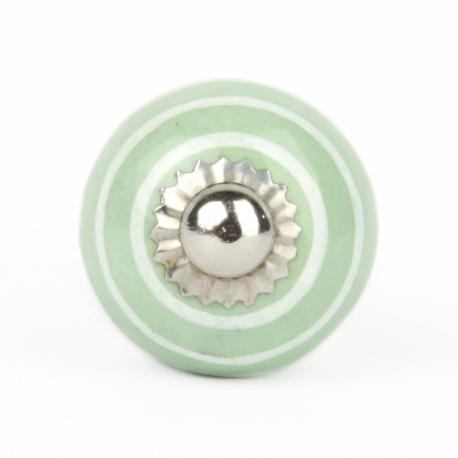 Knauf Streifen mintgrün/weiß