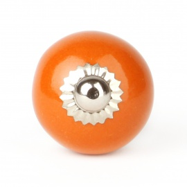Knauf rund einfarbig orange