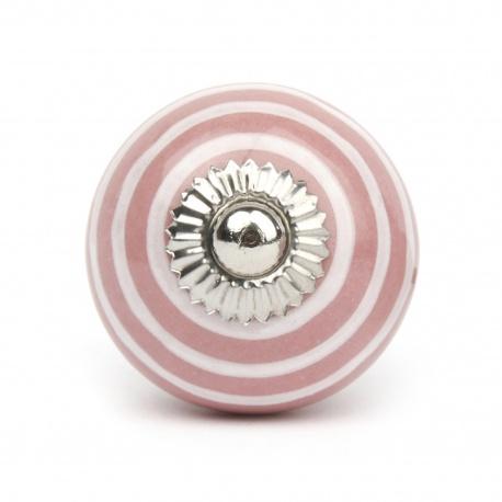 Knauf Streifen rosa/weiß