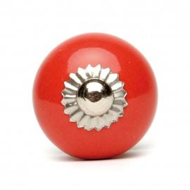 Großer einfarbiger roter Möbelknopf