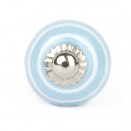 Knauf Streifen hellblau/weiß