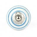 Knauf Streifen weiß/hellblau