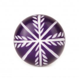 Knauf Zweige violett/weiß