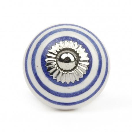 Knauf Streifen weiß/blau