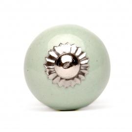 Knauf rund einfarbig mintgrün