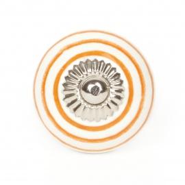 Knauf Streifen weiß/orange