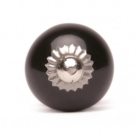 Kleiner einfarbiger Keramikknauf in schwarz