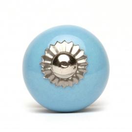 Knauf rund einfarbig hellblau