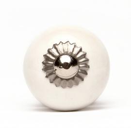 Knauf rund einfarbig weiß