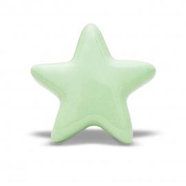 Möbelknauf in Sternform in mint