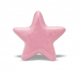 Knauf Stern einfarbig rosa