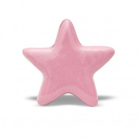 Knauf | Stern | einfarbig | rosa