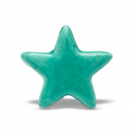 Knauf | Stern | einfarbig | türkis