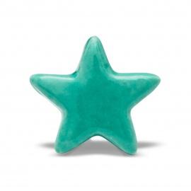 knauf-stern-einfarbig-tuerkis