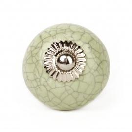 Maigrüner Möbelknauf mit marmoriertem Muster