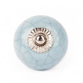 Knauf marmoriert blau
