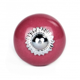 Knauf rund einfarbig cherry