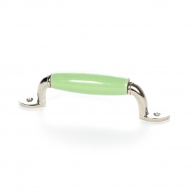 Handgefertigter Möbelgriff im Landhausstil einfarbig grün