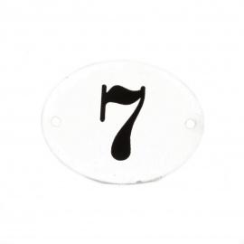 Emailleschild Nr 7