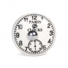 Knauf Keramik Uhr weiß