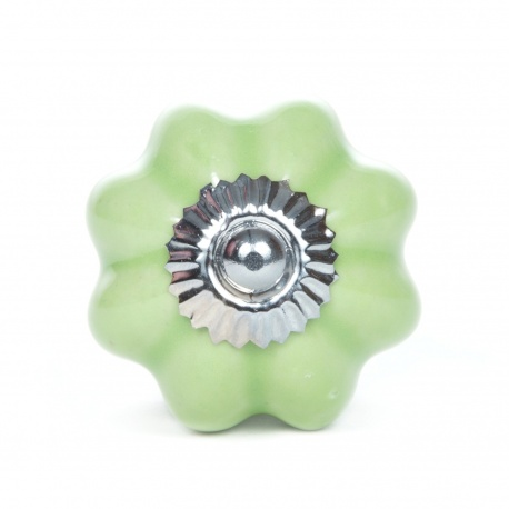Knauf sternförmig einfarbig grün
