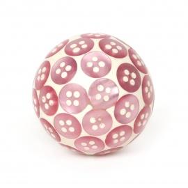 Möbelknauf mit eingesetzten rosa Knopfpailleten