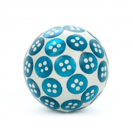 Möbelknopf mit eingearbeiteten Knopfpailletten