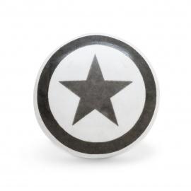 Keramikknauf mit grauem Sternaufdruck