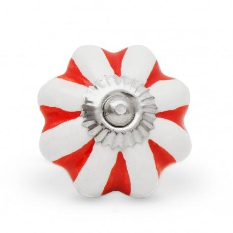 Kürbisknauf BonBon rot weiß