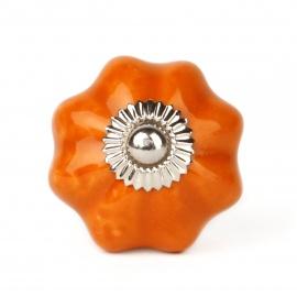 Blütenförmiger Möbelknauf in orange
