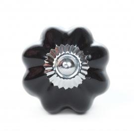 Knauf sternförmig einfarbig schwarz