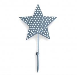 Kinderhaken Stern Punkte grau