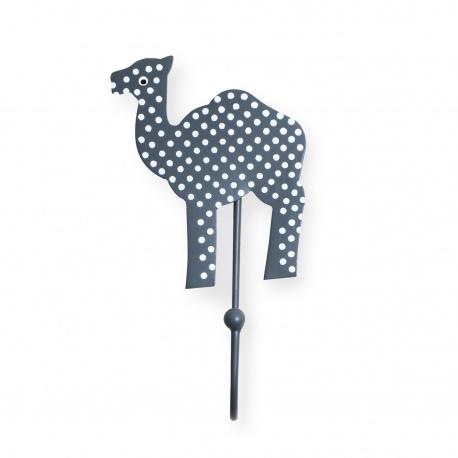 Kinderhaken Kamel Punkte grau