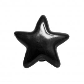 Schwarzer Möbelknauf in Sternform in groß