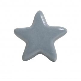 Großer grauer Möbelknauf in Sternform
